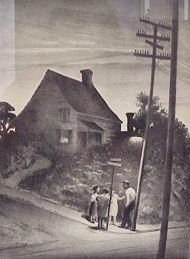 15: LITHOGRAPH, STREET CORNER, MABEL DWIGHT