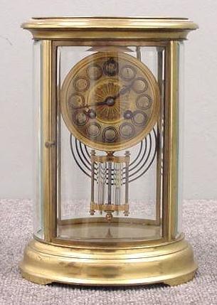 22: FRENCH BRASS CRYSTAL REGULATOR CLOCK