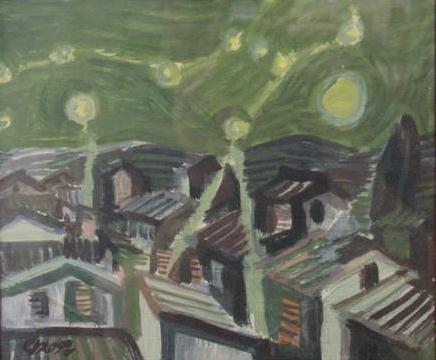 191: OIL ON CARDBOARD, SIGNED GEORGE GROSZ