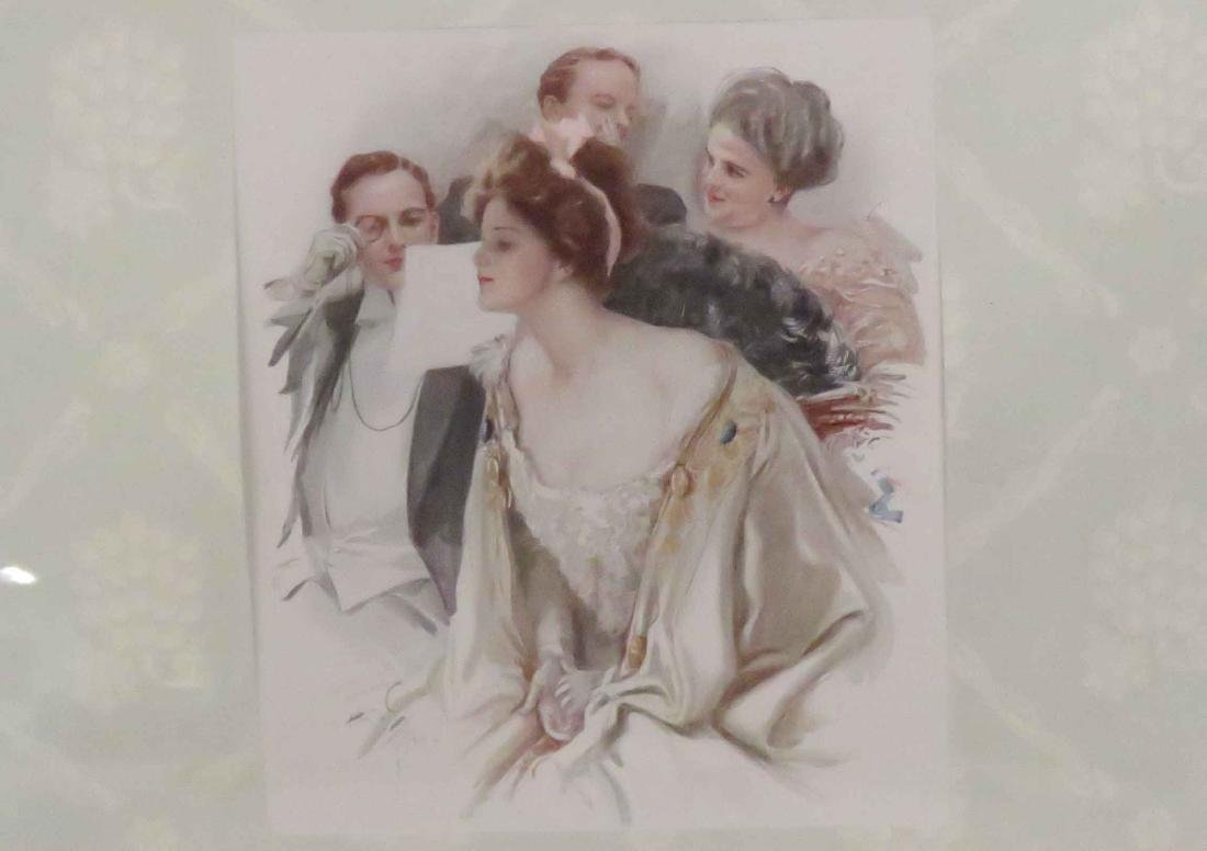 LOT (3) HARRISON FISHER PRINTS INCLUDING CONVEX GLASS - 3