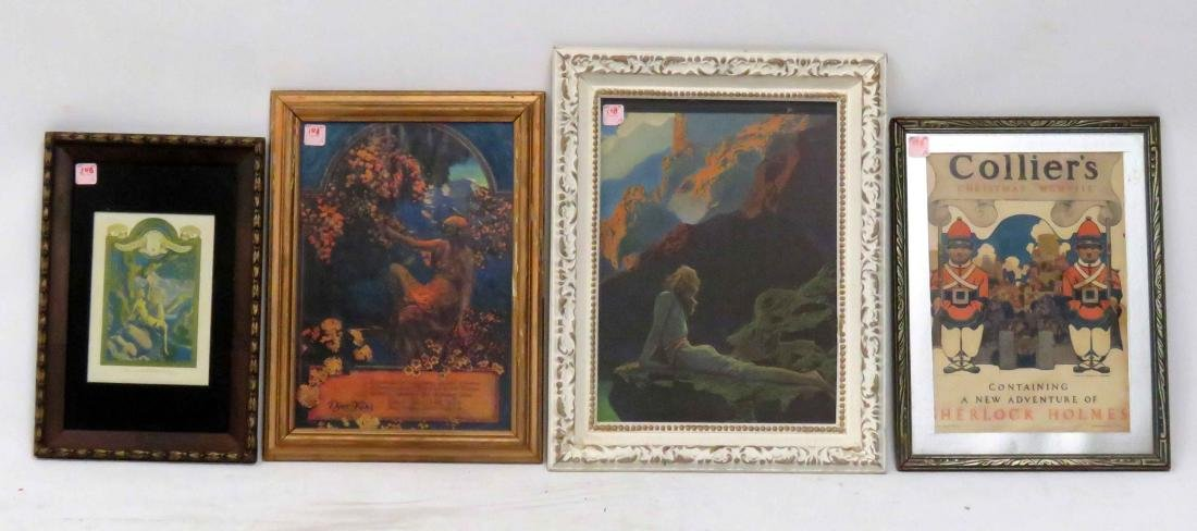 """LOT (4) MAXFIELD PARRISH PRINTS INCLUDING """"AND NIGHT IS"""