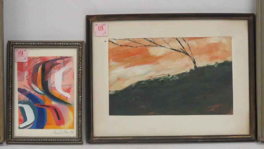 LOT (4) ASSORTED MODERNIST WORKS. VARIOUS SIZES - 2