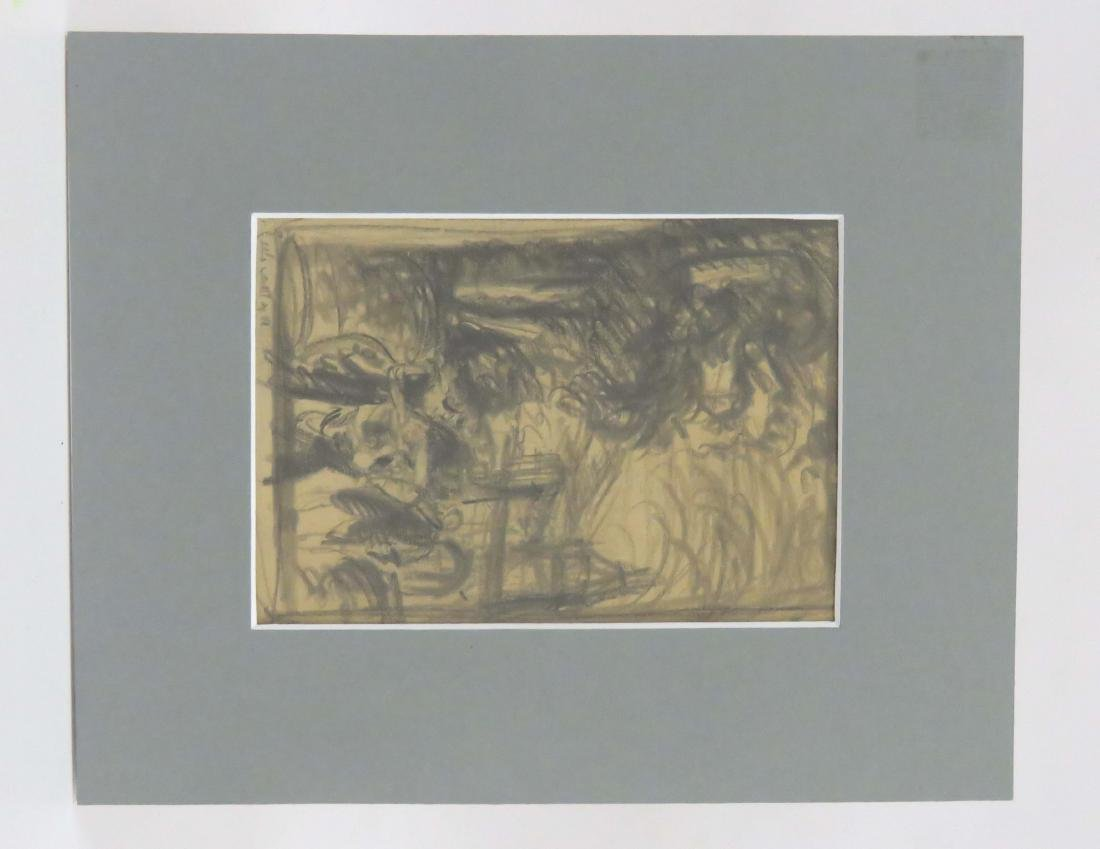 GERMAN SCHOOL (19/20TH CENTURY), DOUBLE SIDED GRAPHITE