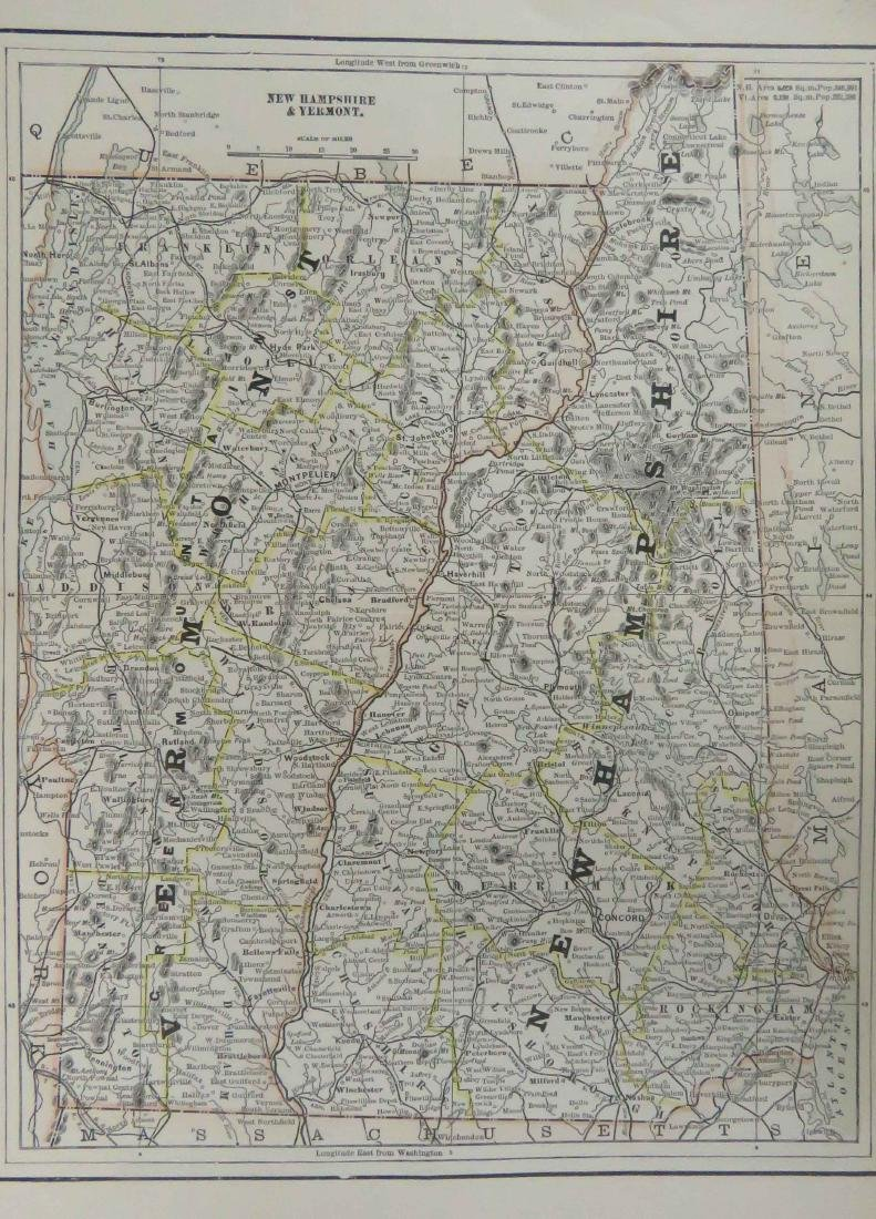 LARGE LOT ASSORTED US ATLAS MAP PAGES INCLUDING - 2