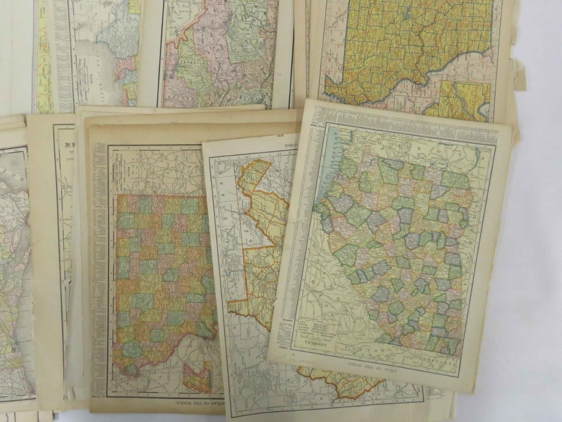 LARGE LOT ASSORTED US ATLAS MAP PAGES INCLUDING - 3