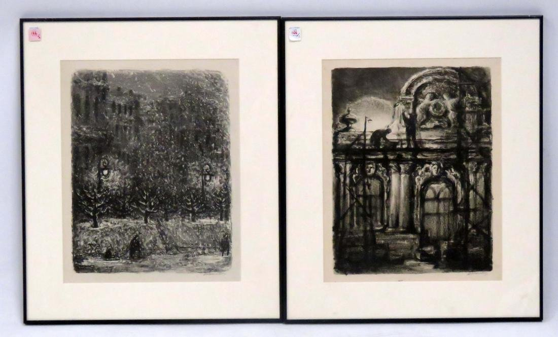RUSSIAN SCHOOL (20TH CENTURY), LOT (2) LITHOGRAPHS,