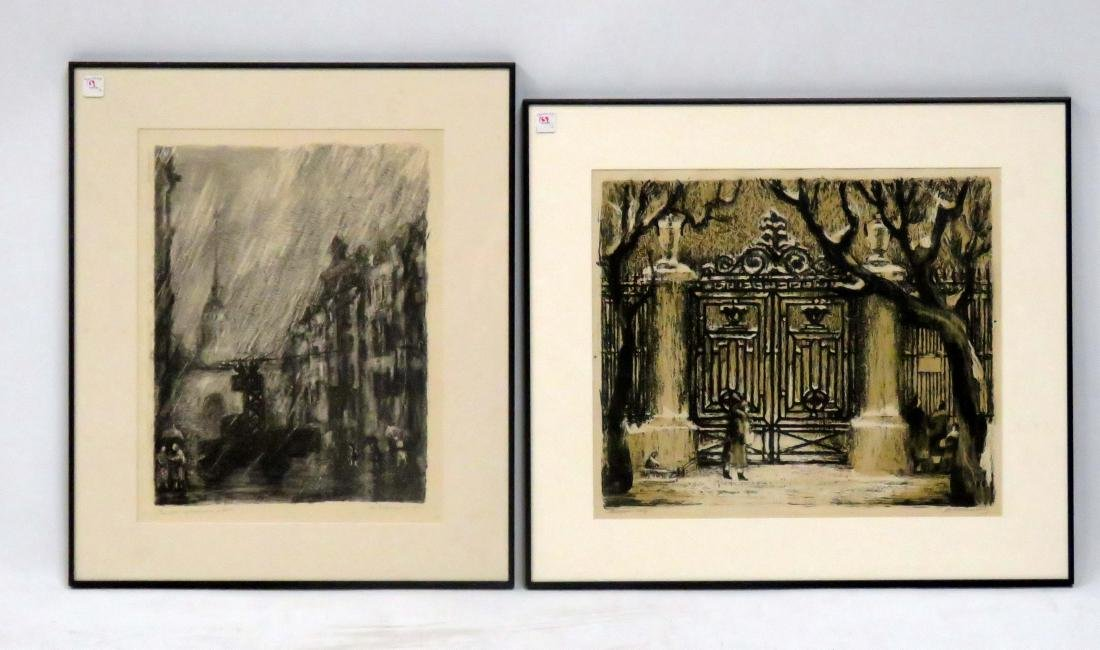 RUSSIAN SCHOOL (19/20TH CENTURY), LOT (2) LITHOGRAPHS