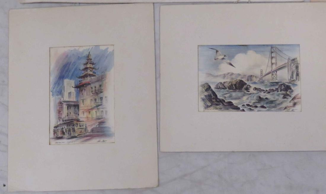 LOT ASSORTED WORKS ON PAPER INCLUDING PAIR FRENCH 18TH - 4