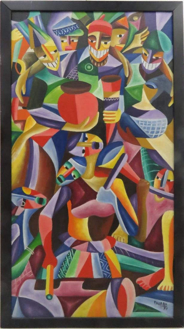 LATIN AMERICAN SCHOOL (20TH CENTURY), OIL ON CANVAS