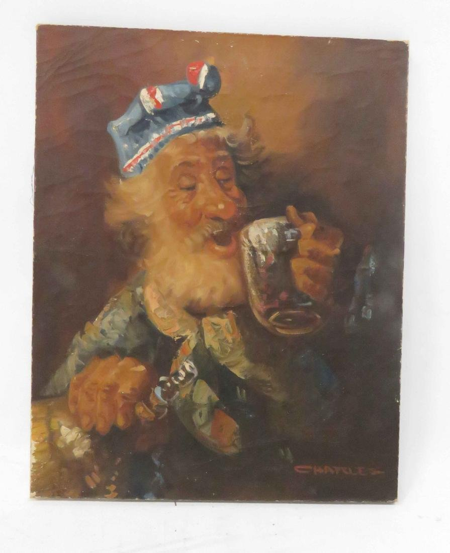 FRENCH SCHOOL (20TH CENTURY), OIL ON CANVAS, THE TOAST,