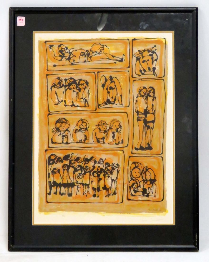 YANNI POSNAKOFF (GREEK 1933-), LITHOGRAPH, UNTITLED,