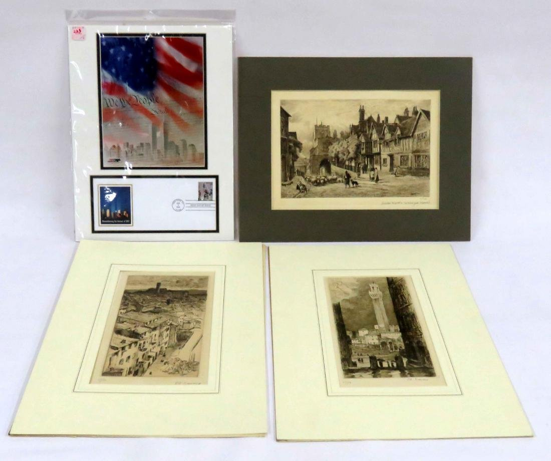 LOT (4) INCLUDING 9/11 FIRST DAY POSTAL COVER AND (3)