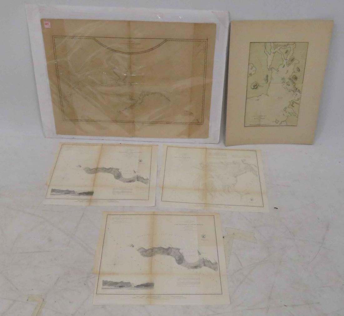 LOT ASSORTED ENGRAVED MAPS, CALIFORNIA, OREGON AND