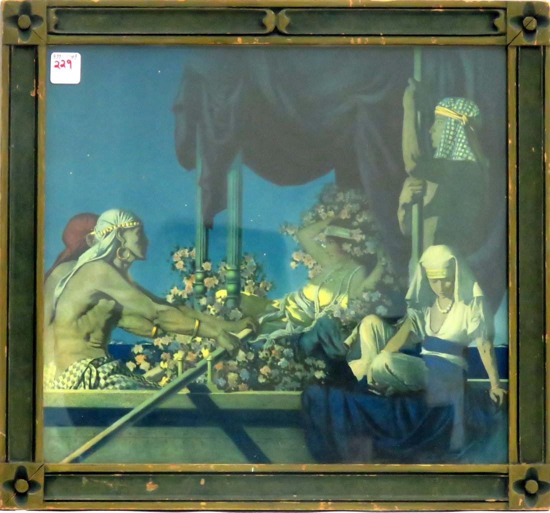 """MAXFIELD PARRISH PRINT, """"CLEOPATRA"""". FRAMED AND"""