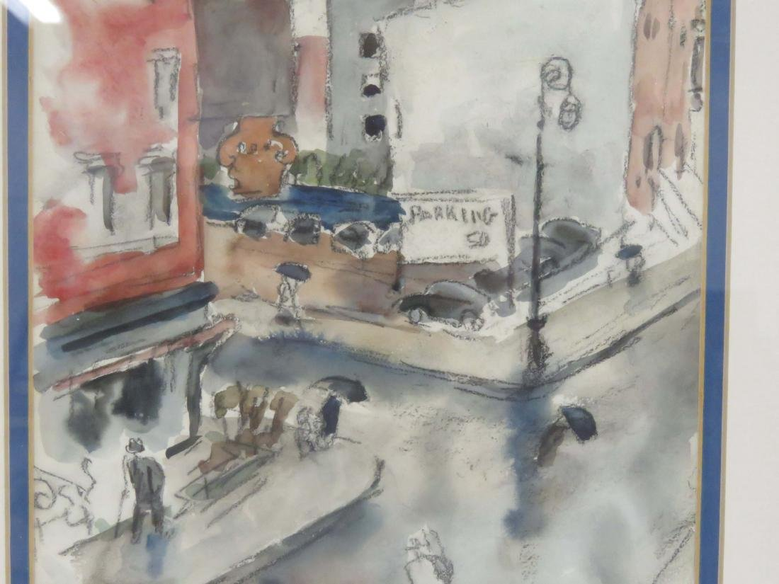 HILDA MILOCHE (AMERICAN 20TH CENTURY), WATERCOLOR, - 3