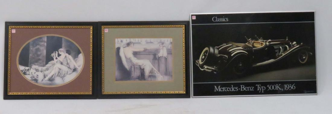 LOT (3) INCLUDING (2) PRINTS, AFTER LOUIS ICART, FRAMED