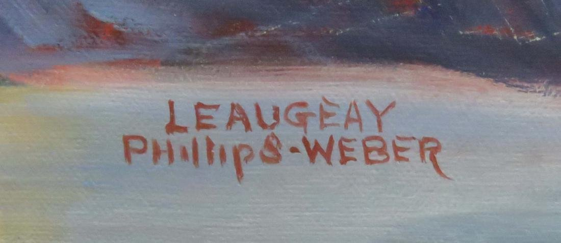 LEAUGEAY PHILLIPS-WEBER (AMERICAN 20TH CENTURY), OIL ON - 2