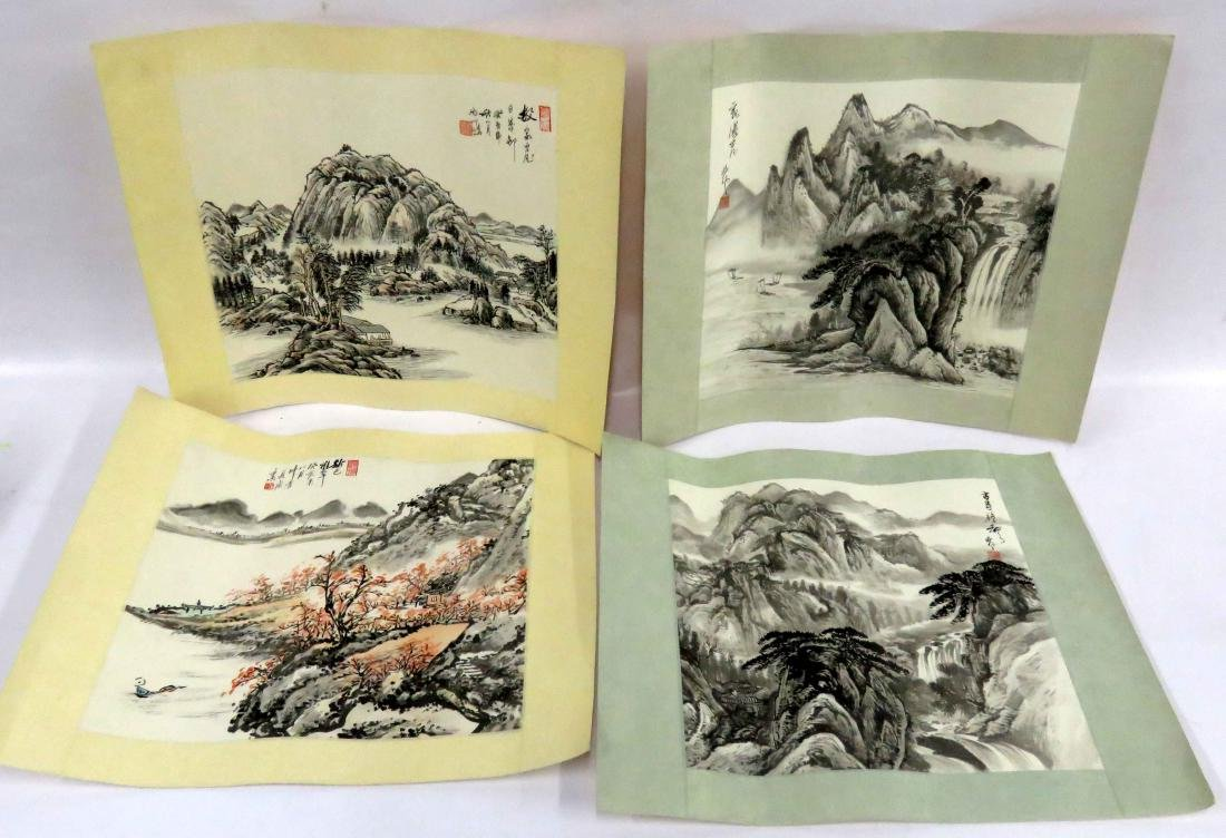CHINESE SCHOOL (20TH CENTURY), LOT (4) INK AND