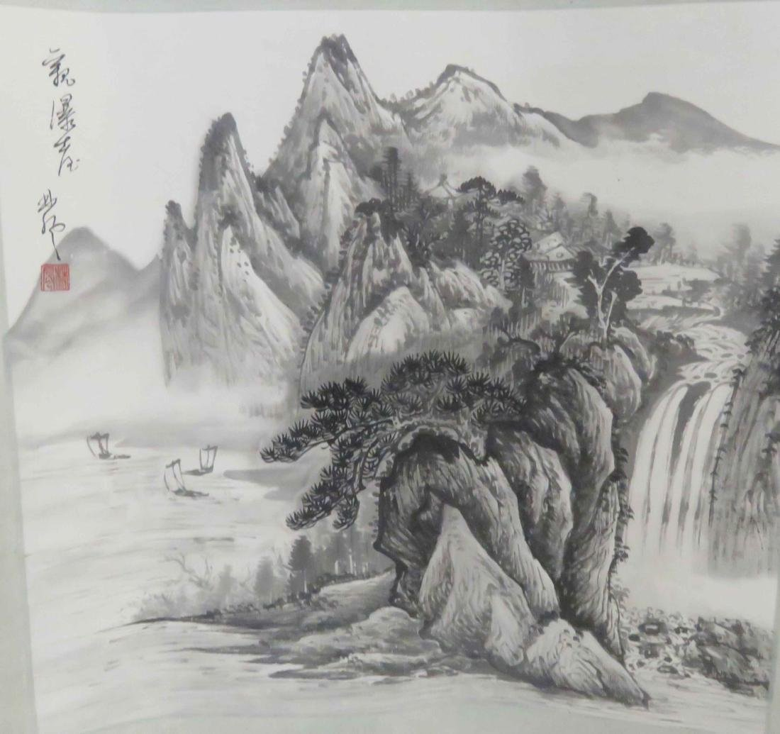 CHINESE SCHOOL (20TH CENTURY), LOT (4) INK AND - 3
