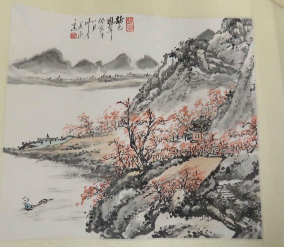 CHINESE SCHOOL (20TH CENTURY), LOT (4) INK AND - 4