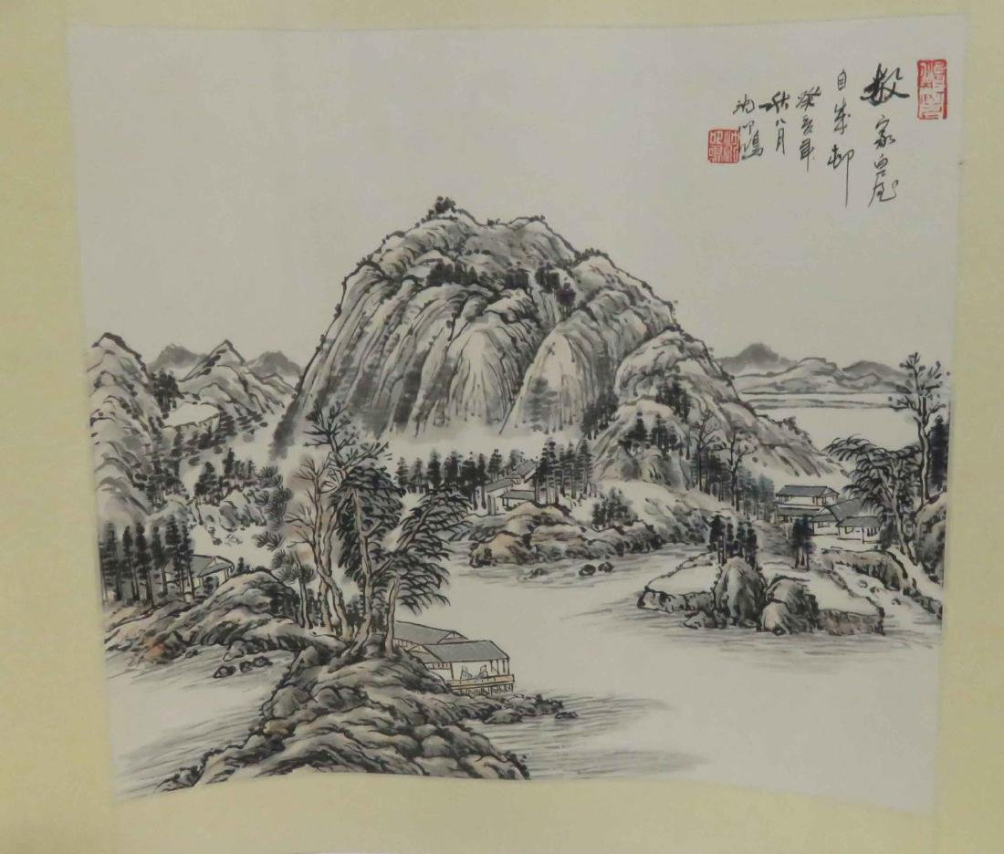 CHINESE SCHOOL (20TH CENTURY), LOT (4) INK AND - 5