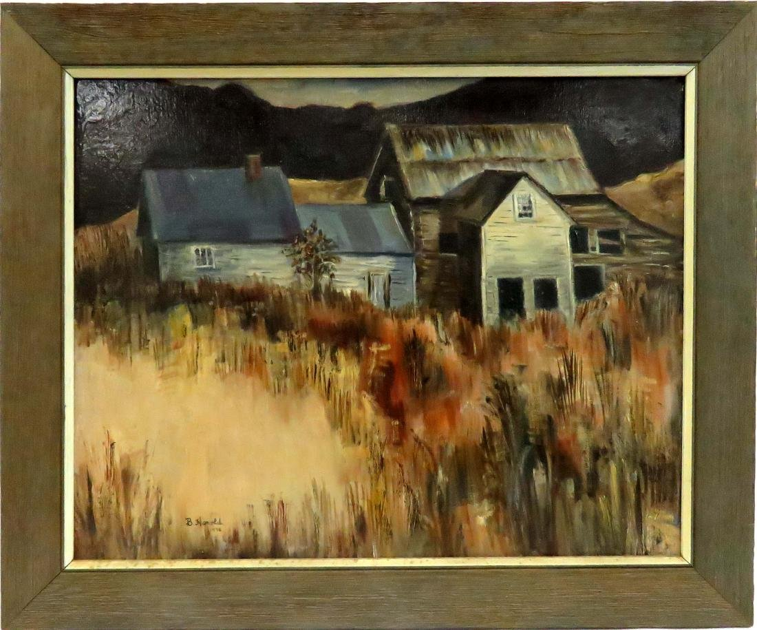 AMERICAN SCHOOL (20TH CENTURY), OIL ON CANVAS,