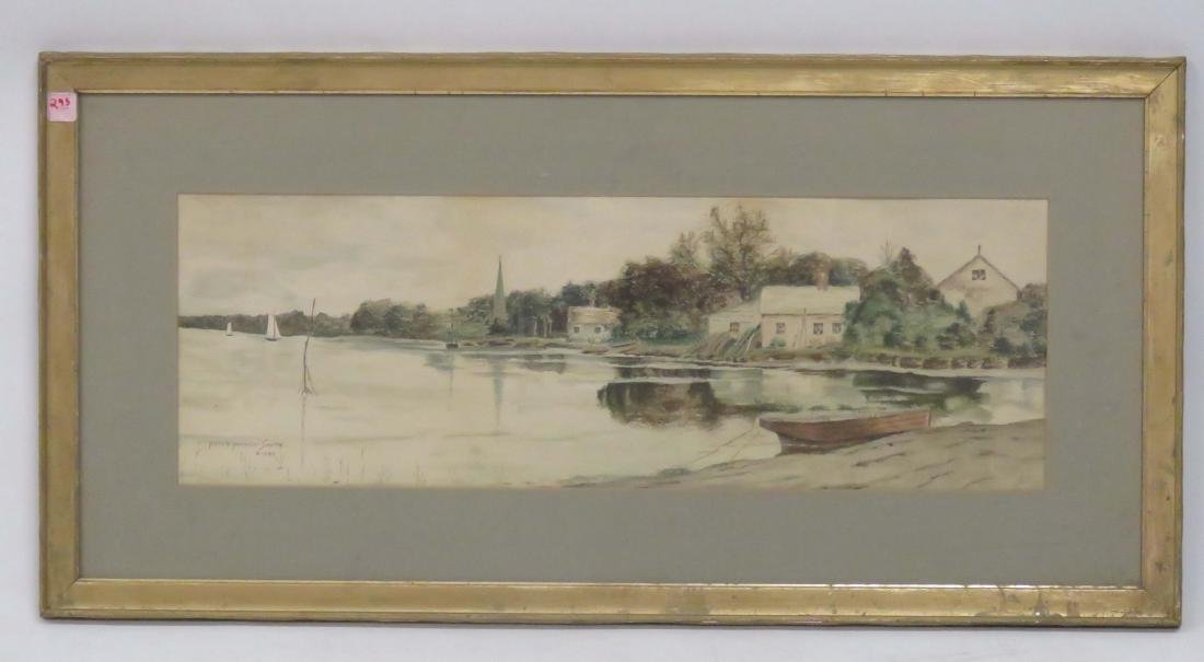 AMERICAN SCHOOL (19/20TH CENTURY), WATERCOLOR, SHORE