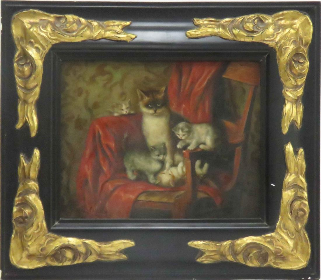 CONTINENTAL SCHOOL (20TH CENTURY), OIL ON BOARD, CAT