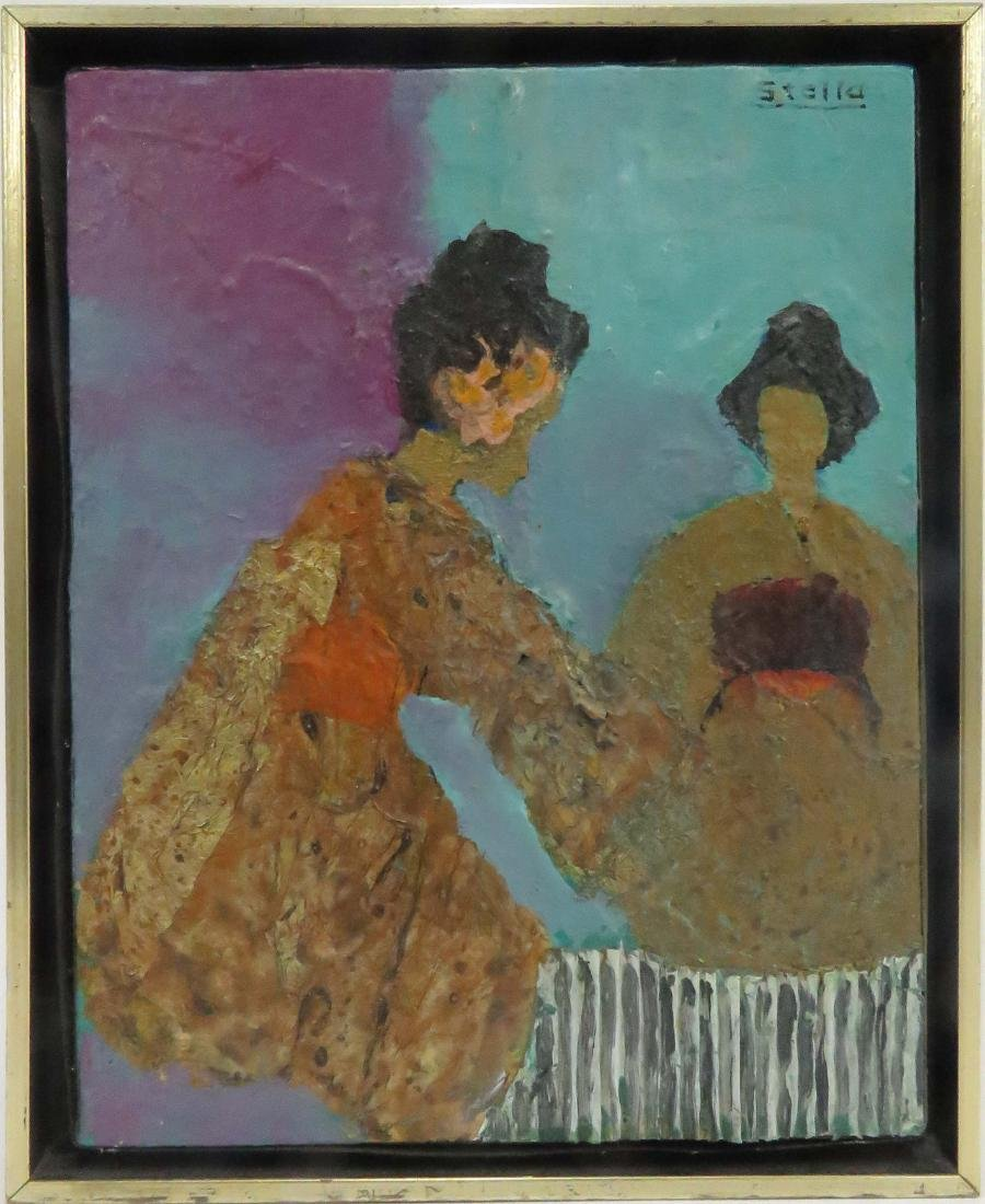 AMERICAN SCHOOL (20TH CENTURY), MIXED MEDIA ON CANVAS,