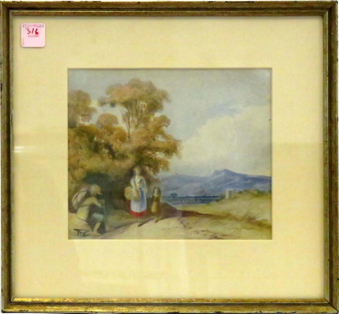 BRITISH SCHOOL (19TH CENTURY), WATERCOLOR, LANDSCAPE