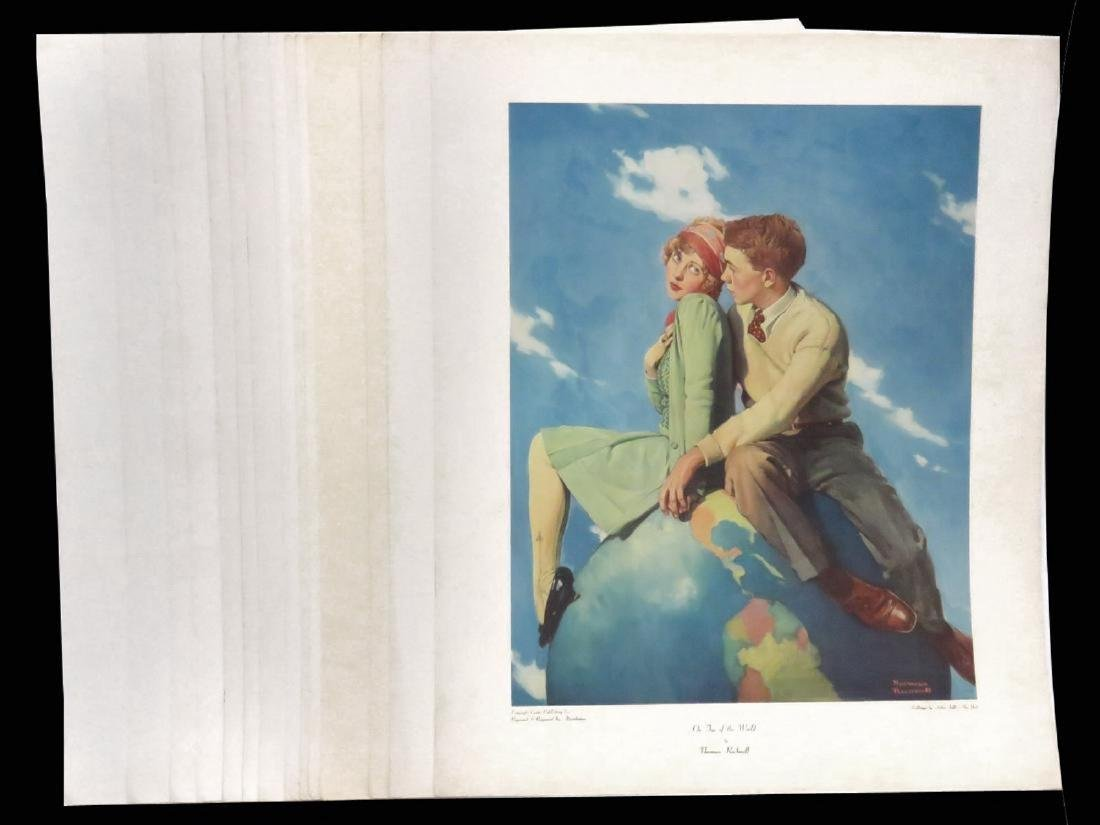 LOT (18) ASSORTED NORMAN ROCKWELL ADVERTISING PREMIUMS,