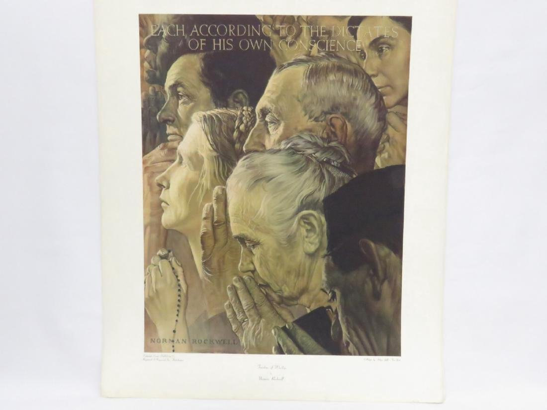 LOT (18) ASSORTED NORMAN ROCKWELL ADVERTISING PREMIUMS, - 4