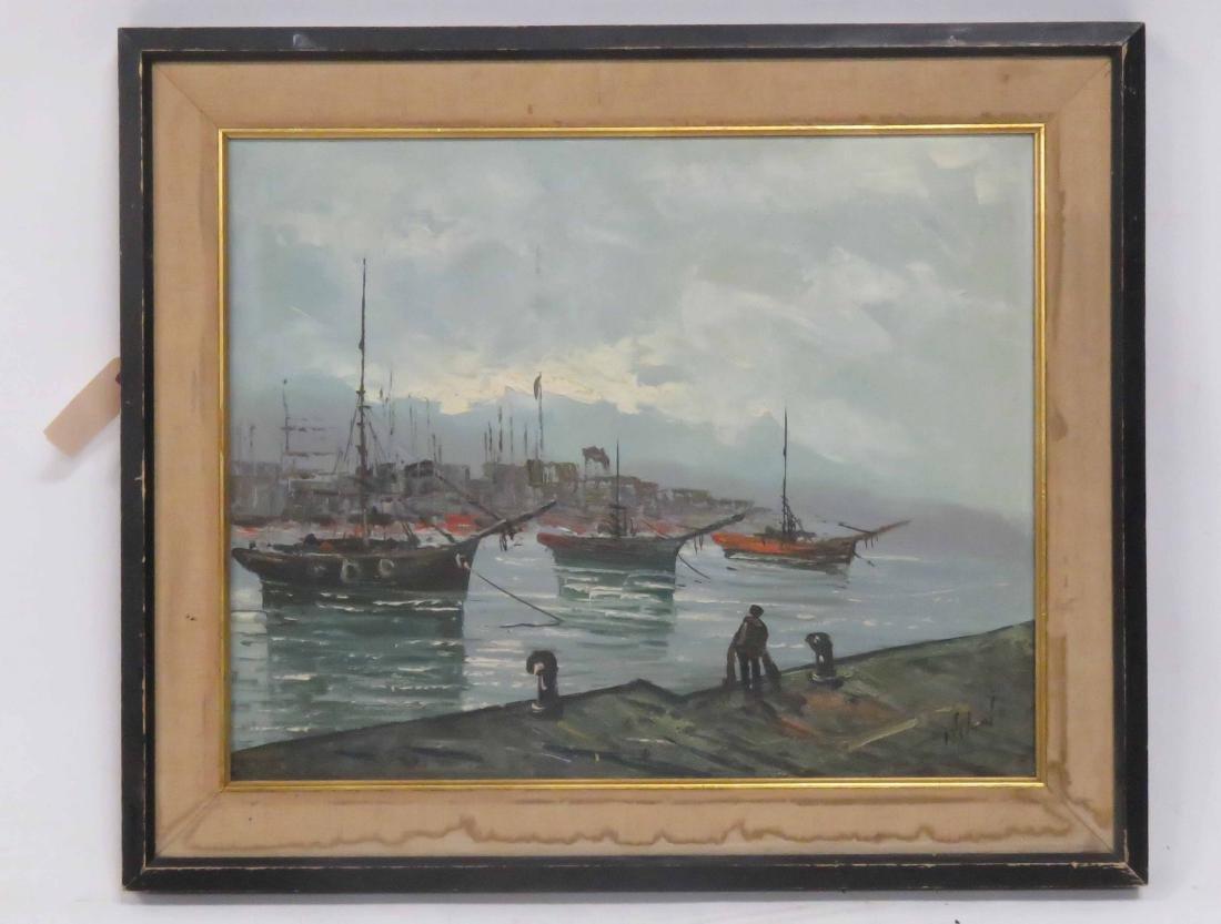 VITOLANTE Y PEZZELLA (ITALIAN 1922-1992), OIL ON