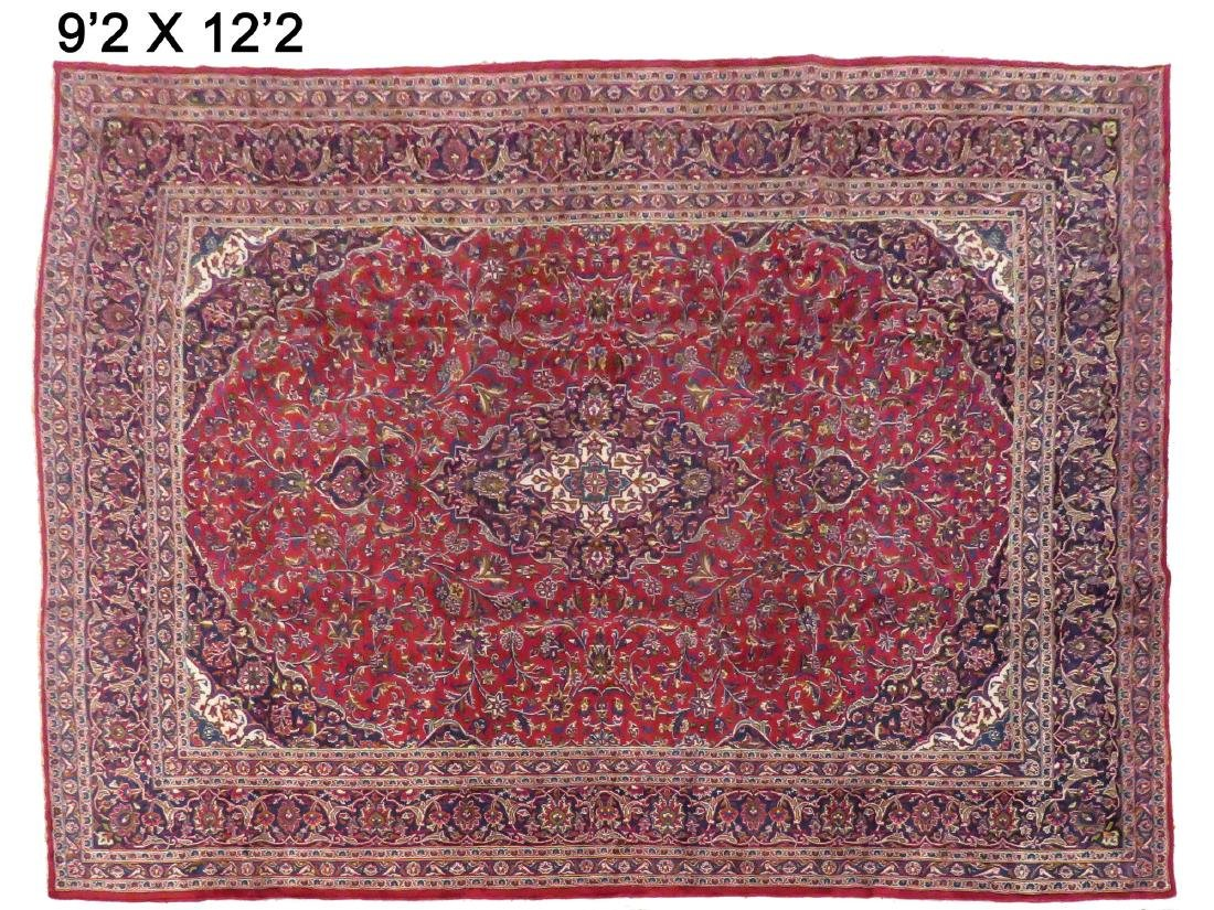 "PERSIAN KASHAN CARPET. 9'2"" X 12'2"""