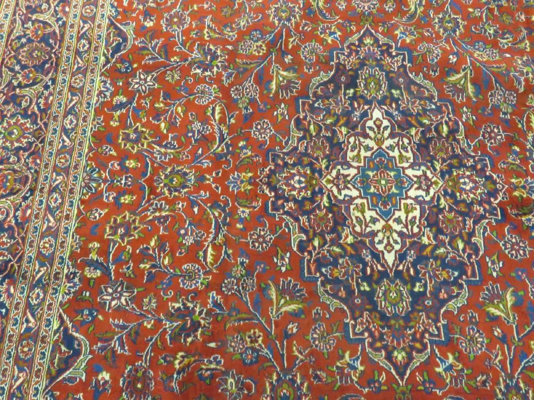 "PERSIAN KASHAN CARPET. 9'2"" X 12'2"" - 3"