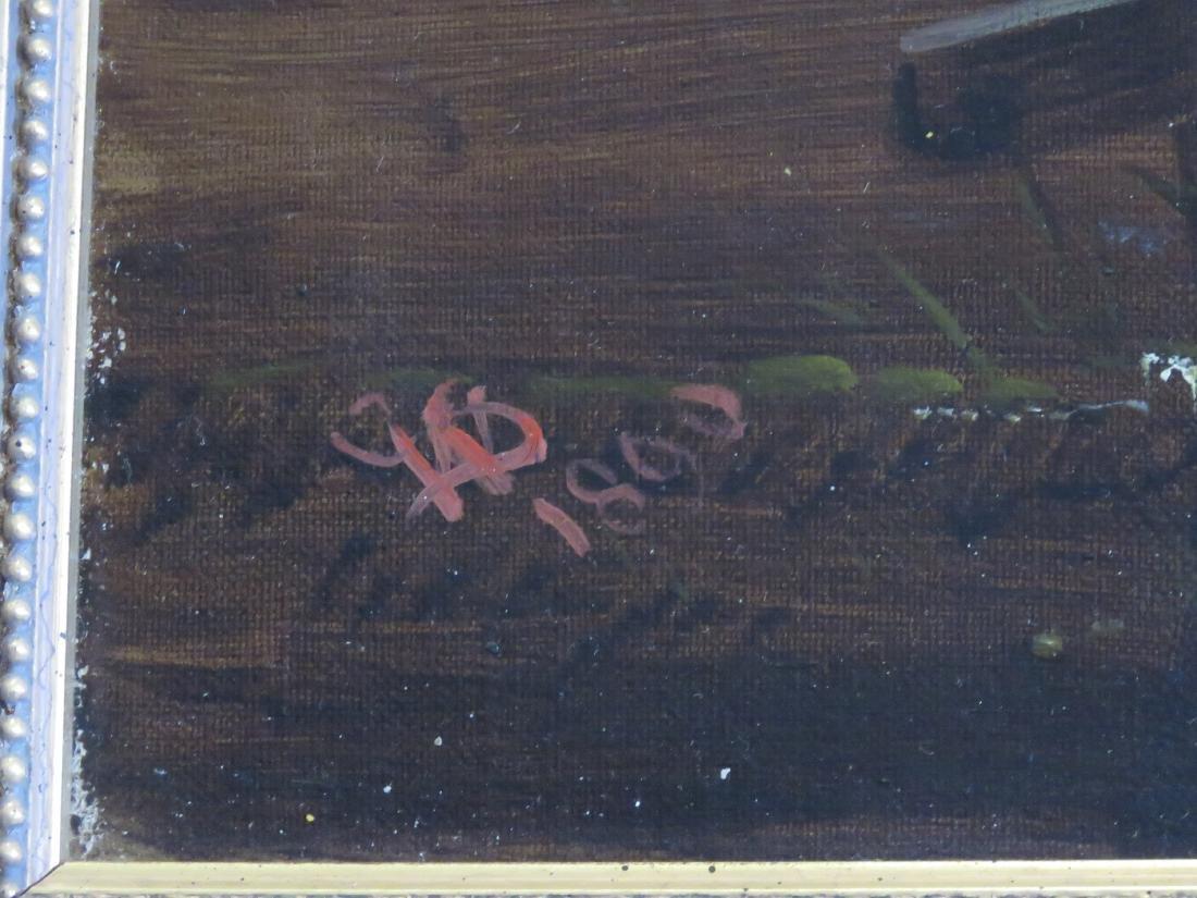 ENGLISH SCHOOL (19TH CENTURY), OIL ON CANVAS, HORSES - 2