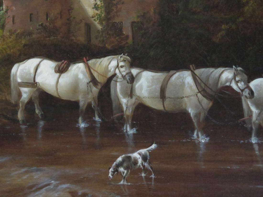 ENGLISH SCHOOL (19TH CENTURY), OIL ON CANVAS, HORSES - 3
