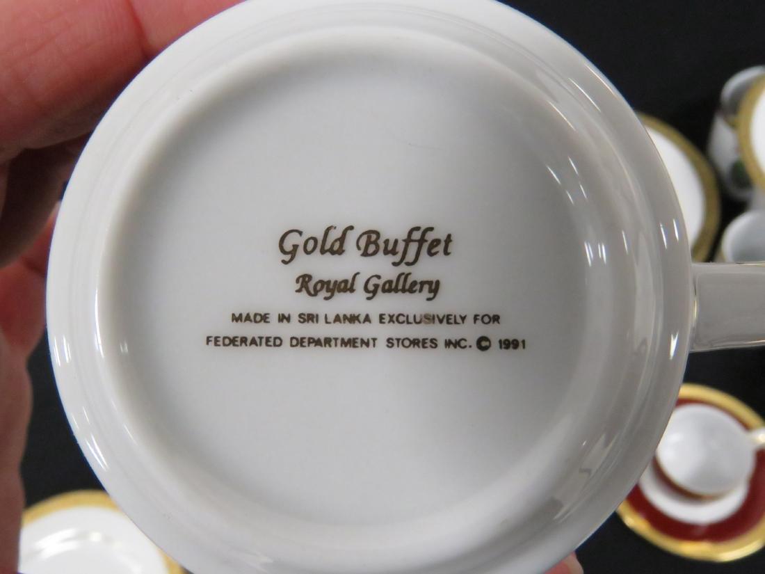 SET (39) GOLD BUFFET FABERGE EGG DECORATED PORCELAIN - 7