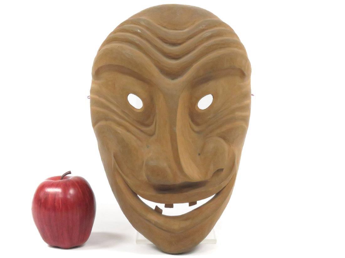 IROQUOIS CARVED FALSE FACE BEGGAR MASK, CANADA. HEIGHT