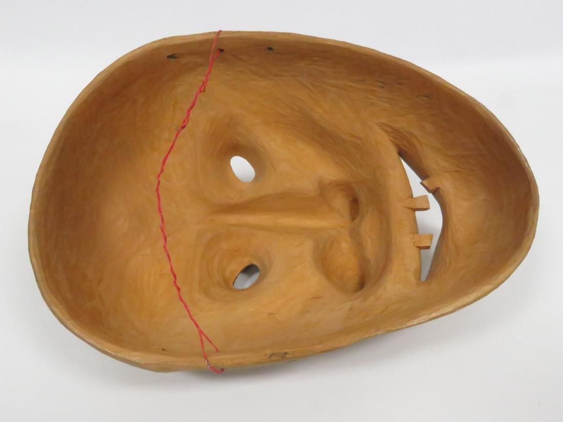 IROQUOIS CARVED FALSE FACE BEGGAR MASK, CANADA. HEIGHT - 3