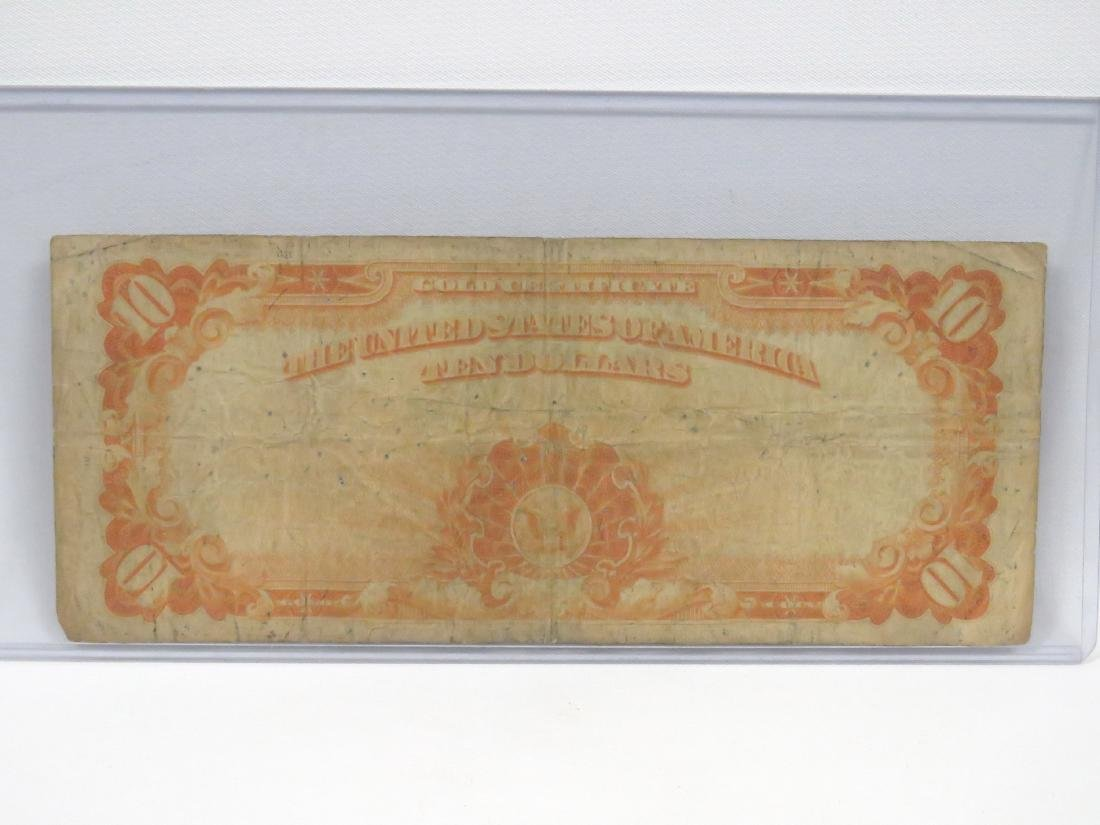 US SERIES 1922 $10.00 GOLD CERTIFICATE (LARGE), #1173 - 2