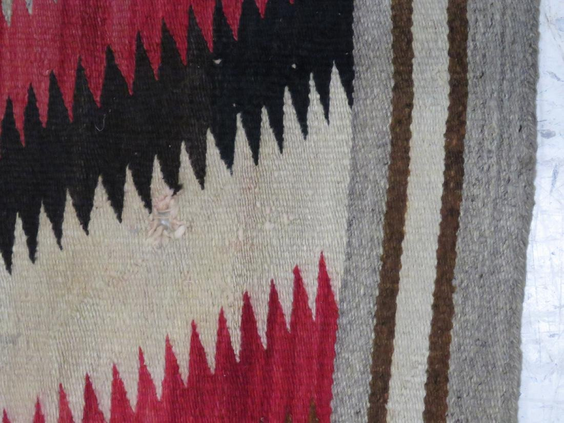 "VINTAGE NATIVE AMERICAN EYE DAZZLER RUG. 4' X 6'3"" - 3"