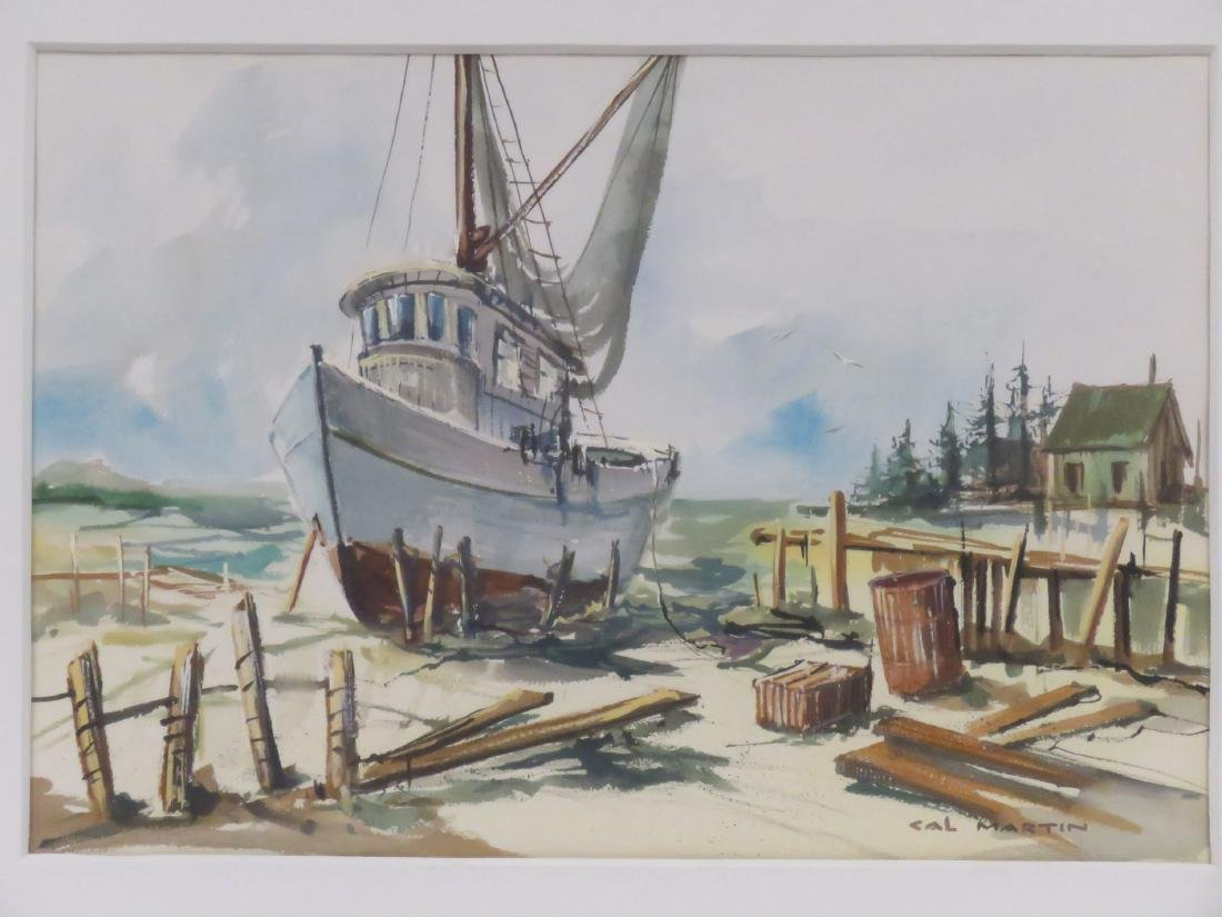 CAL MARTIN (AMERICAN 20TH CENTURY), WATERCOLOR, - 2