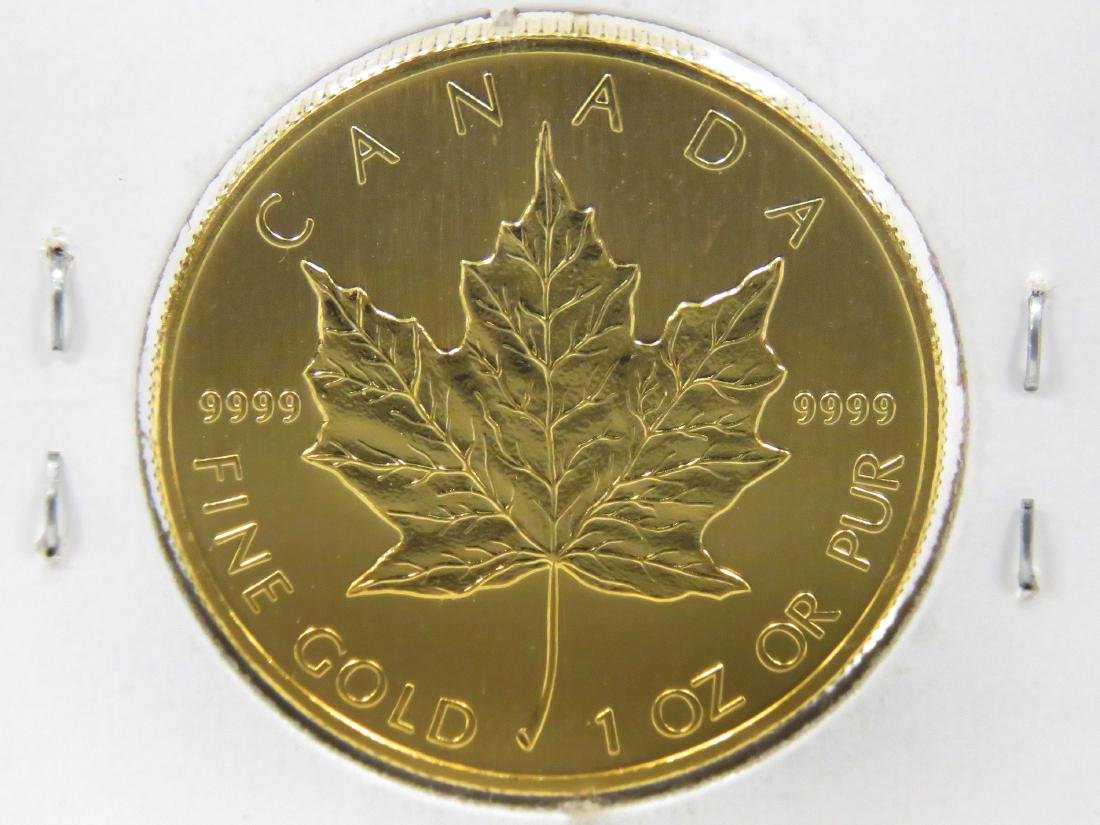 2001 CANADA $50.00 GOLD MAPLE LEAF COIN (1 OZ) (BU) - 3