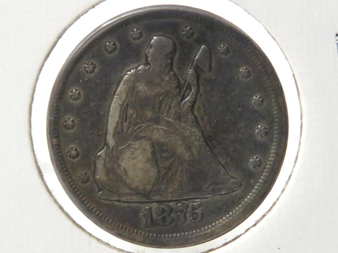1875-CC 20-CENT SILVER COIN (VG)