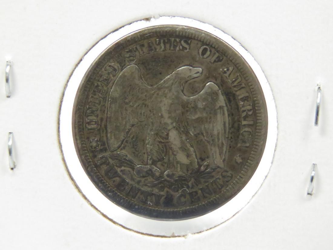 1875-CC 20-CENT SILVER COIN (VG) - 2