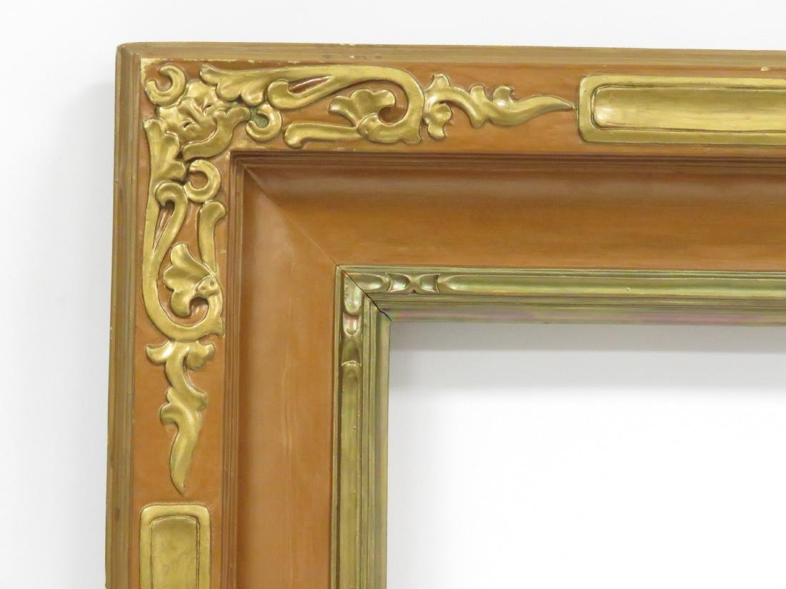 VINTAGE NEWCOMB-MACKLIN STYLE CARVED AND GILT FRAME, - 2