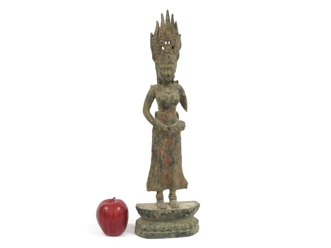 THAI CARVED AND PAINTED WOOD SIVA. HEIGHT 21 1/2""