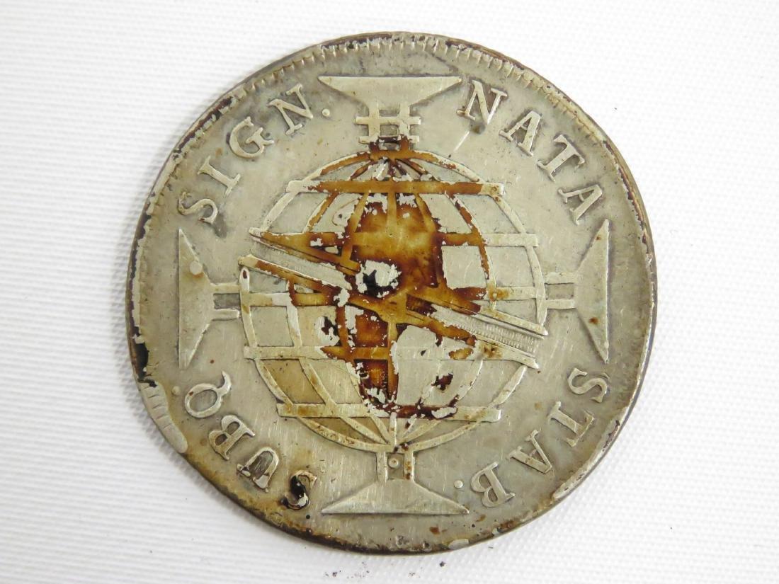 1811 PORTUGAL SILVER 960 REIS COIN - 2