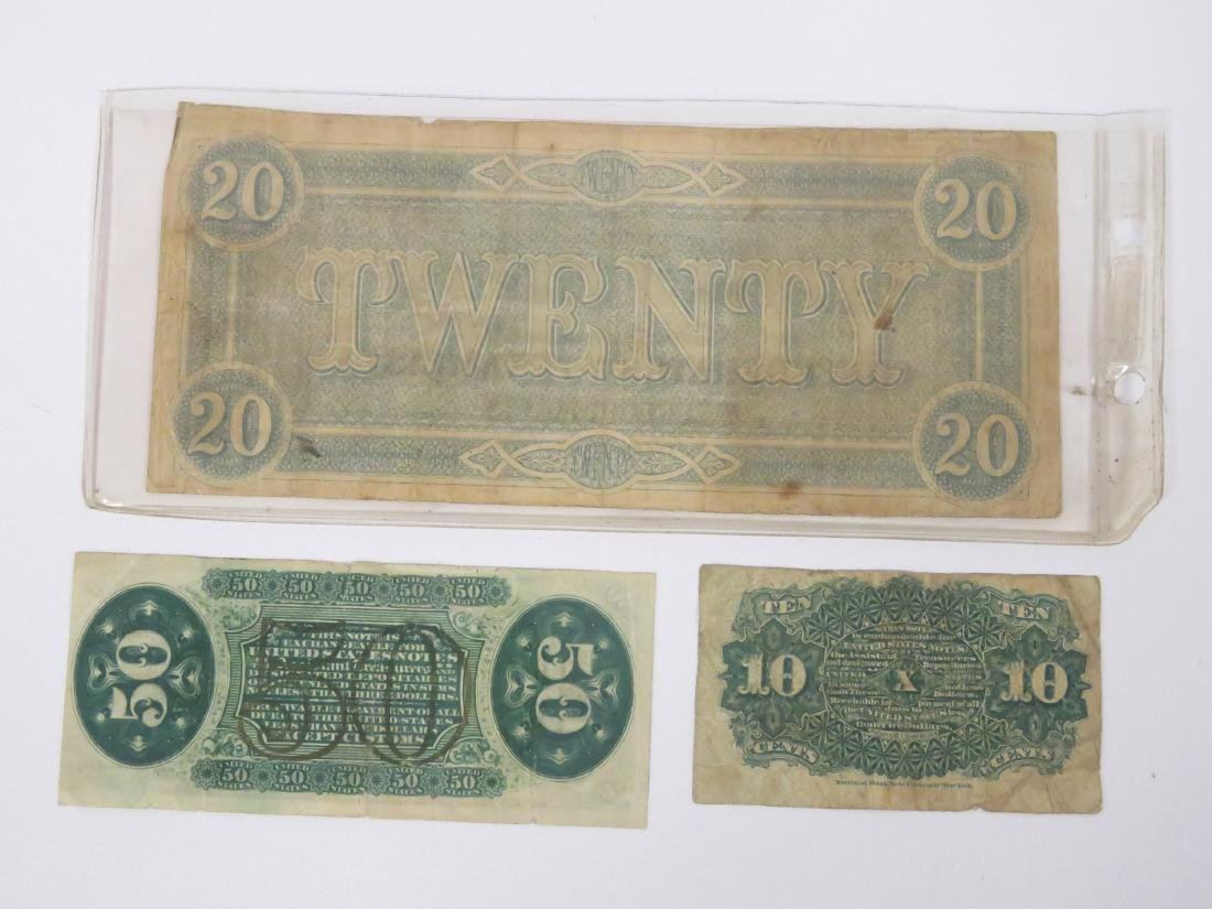 LOT INCLUDING US FRACTIONAL CURRENCY INCLUDING 3RD - 3